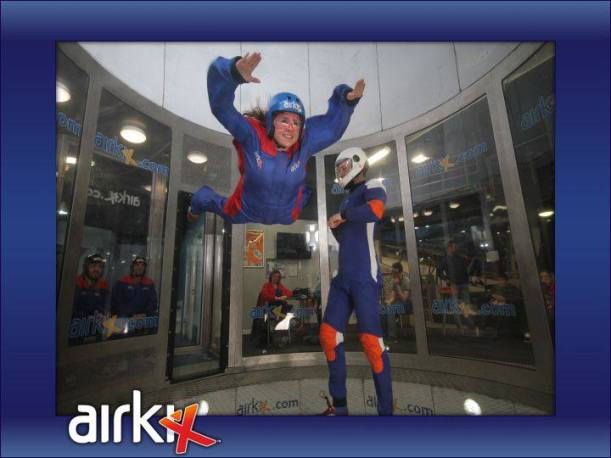 Flying indoor skydiving Airkix Basingstoke